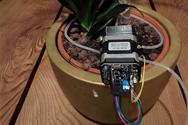 Automated watering with uStepper